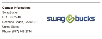 Swagbucks Contact Info Screenshot