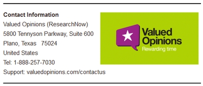 Research Now Contact Info Screenshot