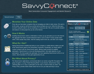 Screenshot of SavvyConnect Member Dashboard