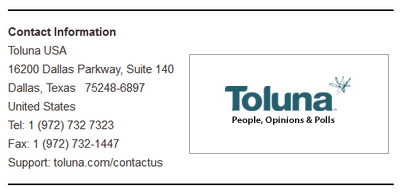 Toluna LTD Contact Info Screenshot