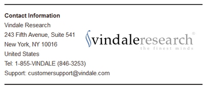 Vindale Contact Info Screenshot