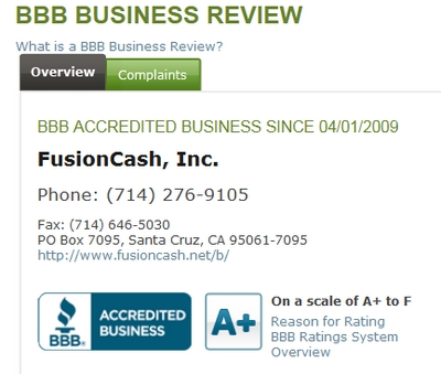 Better Business Bureau Screenshot