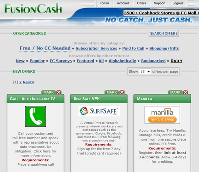 Review of Fusion Cash Offers