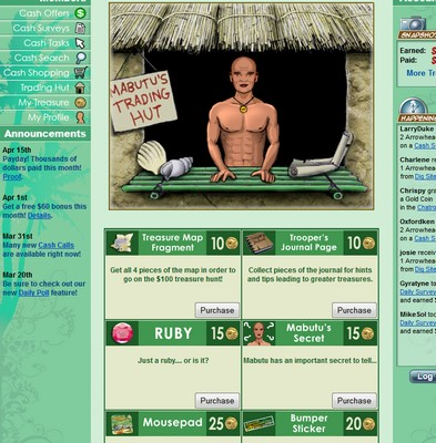 Mabutos Trading Hut Screenshot