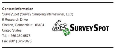 SurveySpot Contact Details