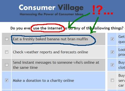 Trick Survey Question Screenshot