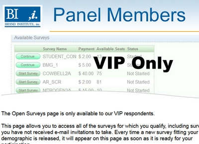 VIP Survey Access