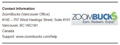 ZB Office Address Screenshot