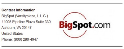 Contact Info Bigspot