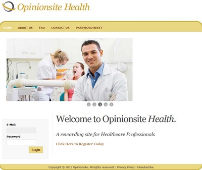 Opinionsite Health Homepage Screenshot