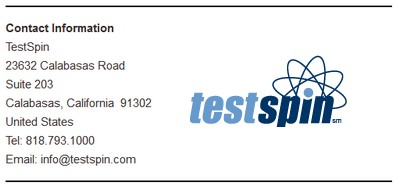 TestSpin Contact Information