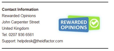 Rewarded Opinions' Contact Info