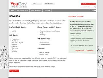 Yougov Rewards Section