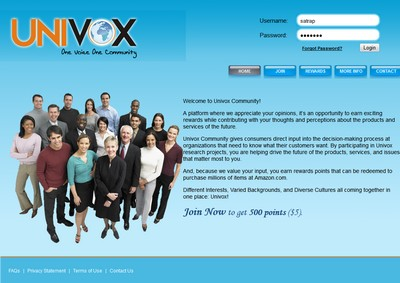 Homepage of Univox