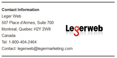 Legerweb Contact info screenshot