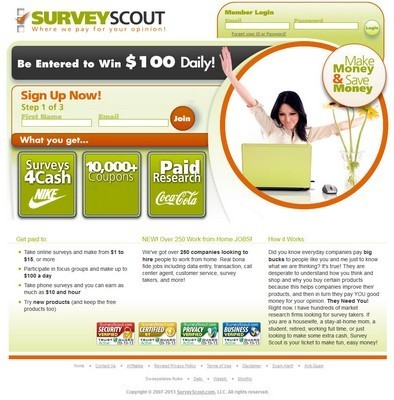 SurveyScout website