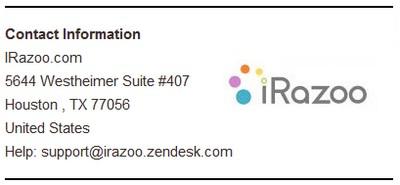 irazoo contact info