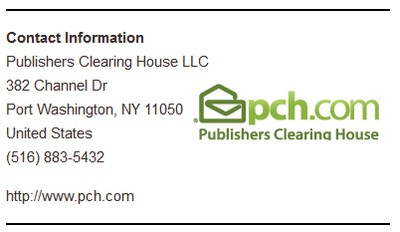 Publishers Clearing House Address