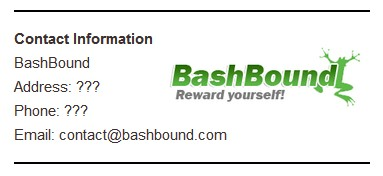 BashBound Contact Info