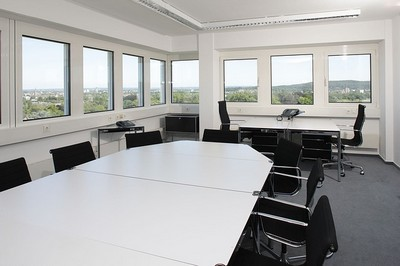 A typical focus group room