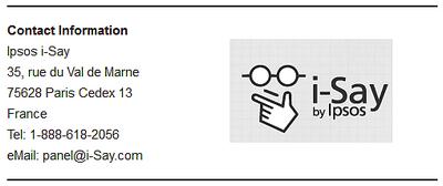 Ipsos i-Say Contact Information