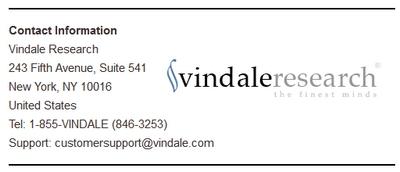 Vindale Contact Info Screenshot