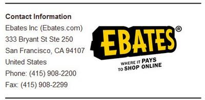 ebates contact info